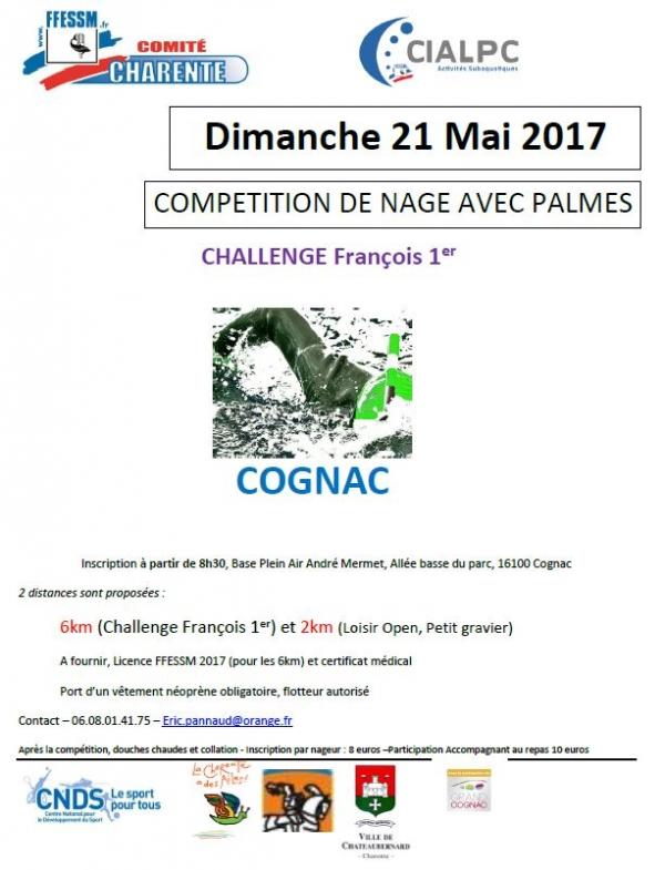 Date 21 05 2017 Le Club De Cognac ACERS Vous Invite La Descente Charente Pour Challenge Franois 1er Sur 6 Km LOPEN 2